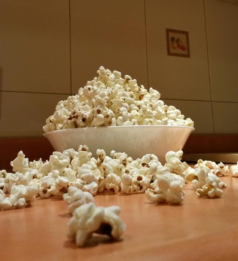 碗玉米花 免版税库存图片
