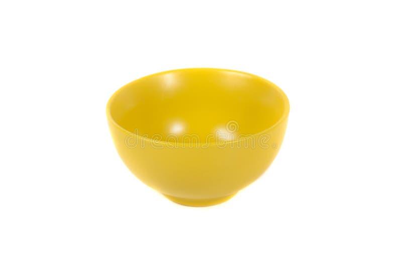碗空的塑料 免版税库存照片
