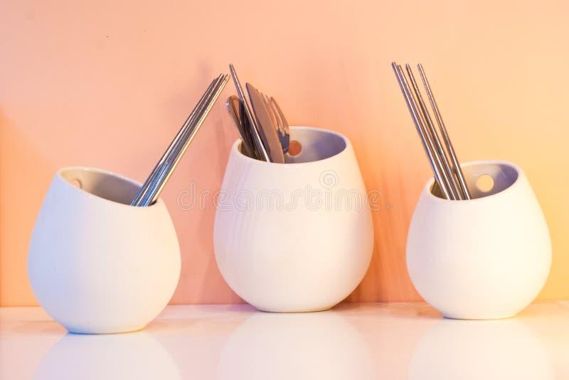 碗筷 库存照片