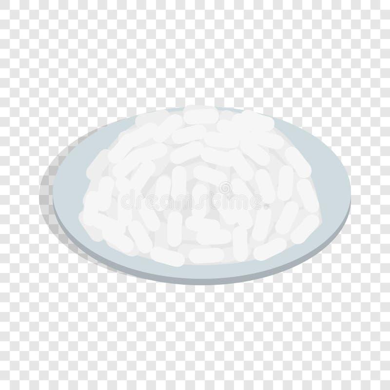 碗米等量象 向量例证