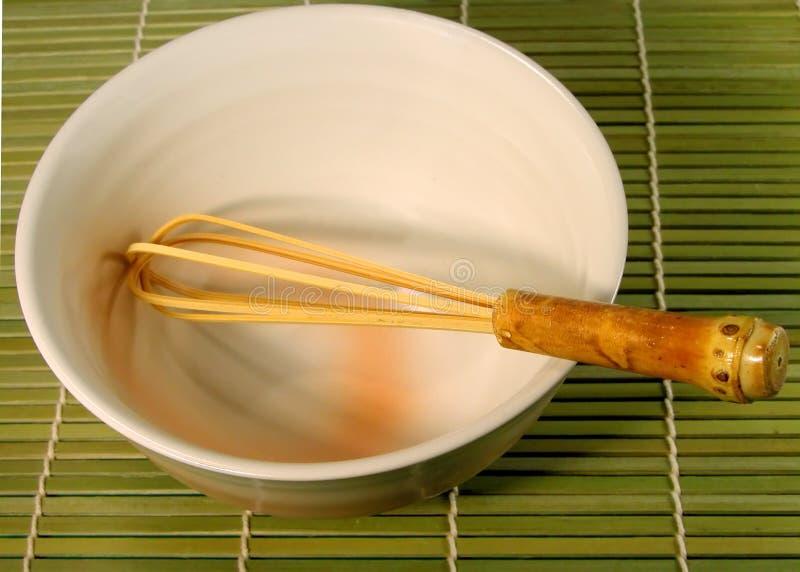 碗茶扫 库存照片