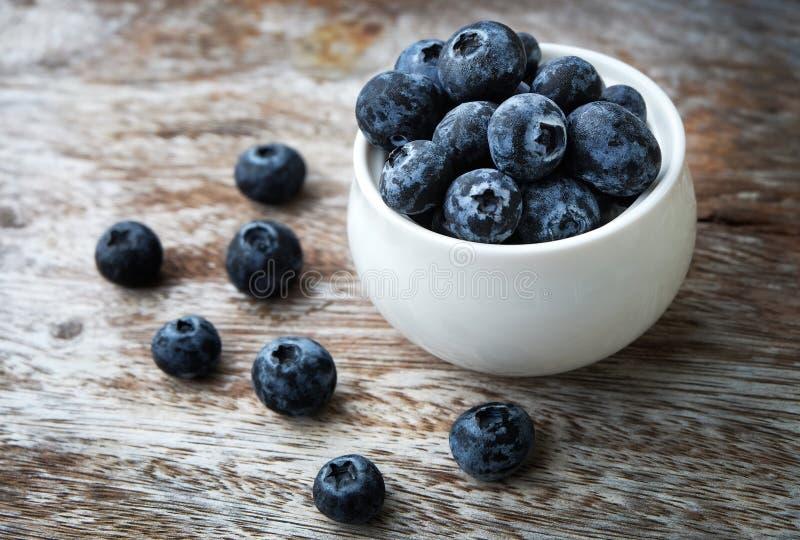 碗蓝莓 库存照片