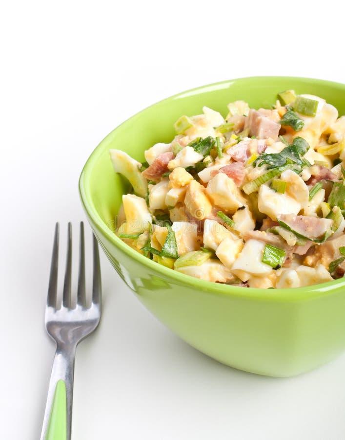 碗蛋蔬菜沙拉 库存照片