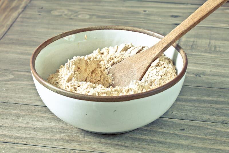 碗面粉 免版税库存照片
