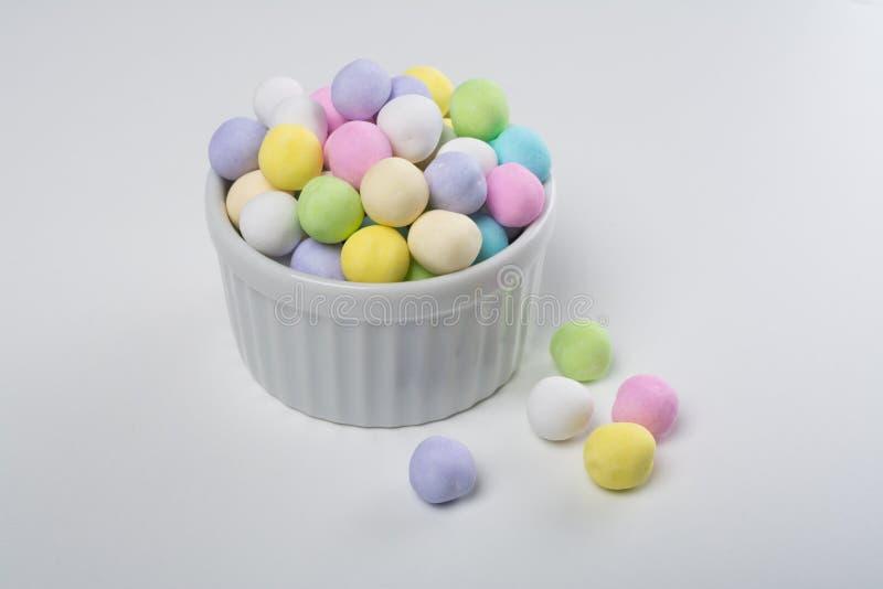 碗鸡豆糖果 免版税库存照片