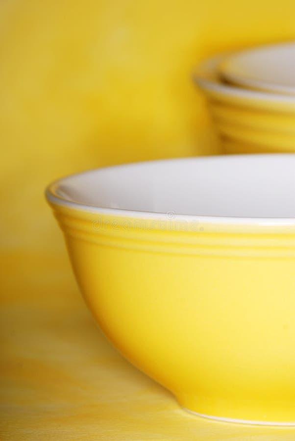 碗黄色 免版税图库摄影