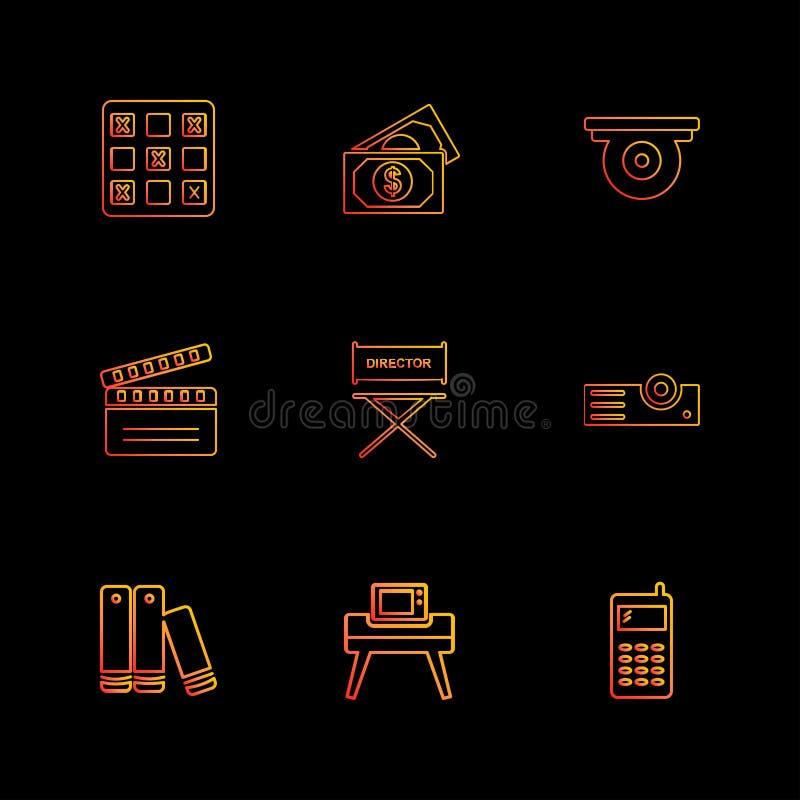 碗,金钱,房子,票,多媒体,eps象设置了传染媒介 向量例证