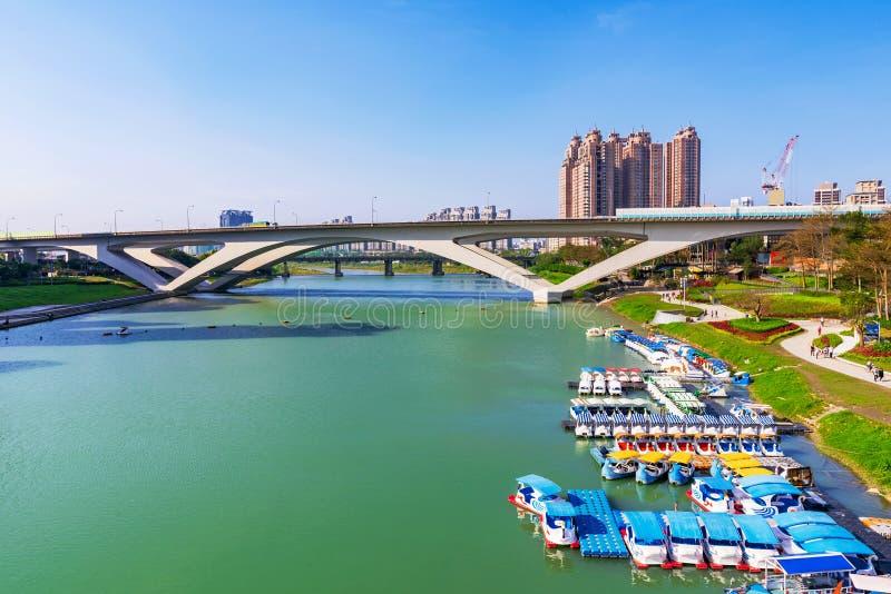 碧潭河沿公园看法  库存图片