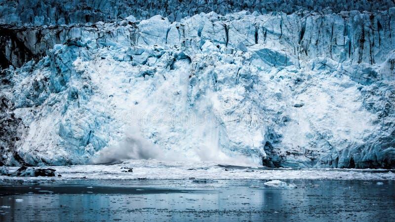 碰撞在Margerie冰川下 库存照片
