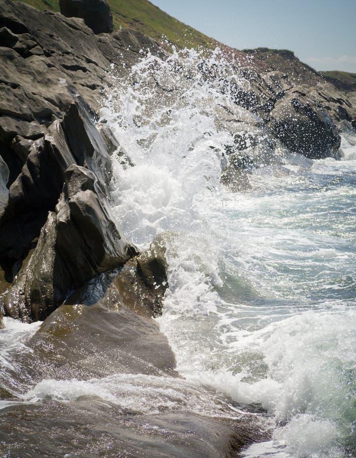 碰撞的波浪 库存照片