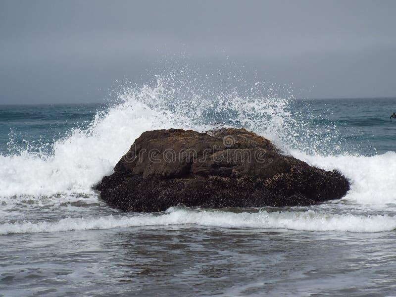 水碰撞 免版税库存照片