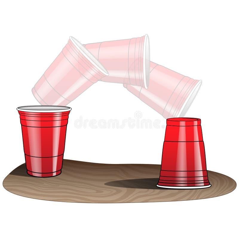 轻碰杯子比赛 库存例证