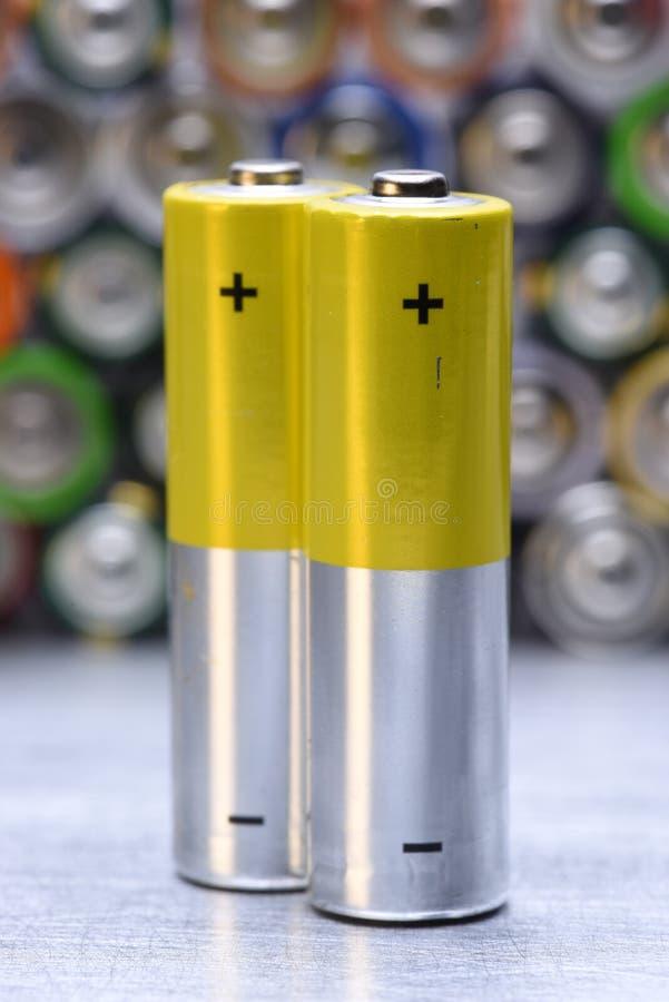 碱性电池特写镜头 图库摄影