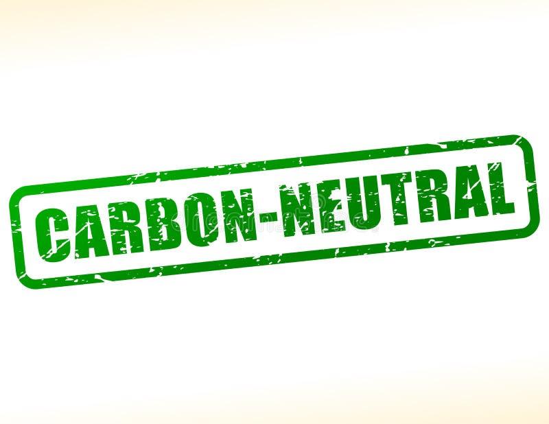 碳中立文本邮票 向量例证