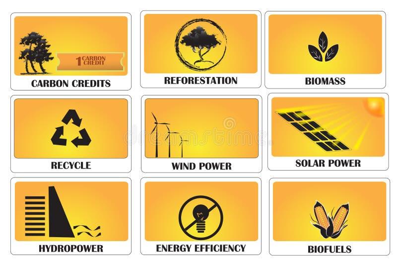 碳信用 库存例证