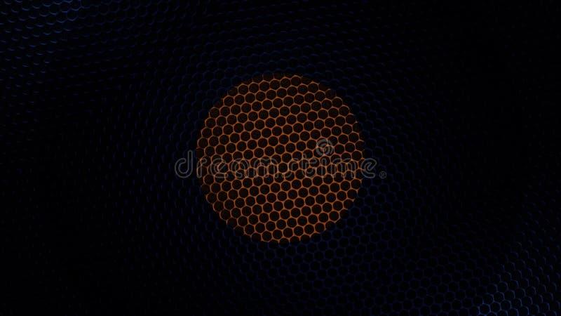 碳凯夫拉尔纤维材料纹理  背景有色种人音乐向量 抽象碳涂层 库存例证