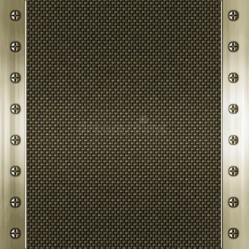 碳纤维框架金黄被镶嵌的金属 皇族释放例证