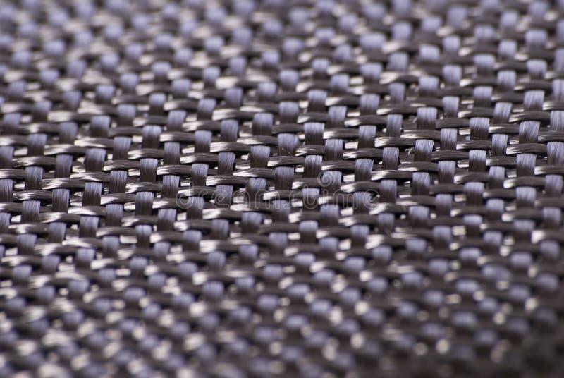 碳纤维纺织品织法 库存照片