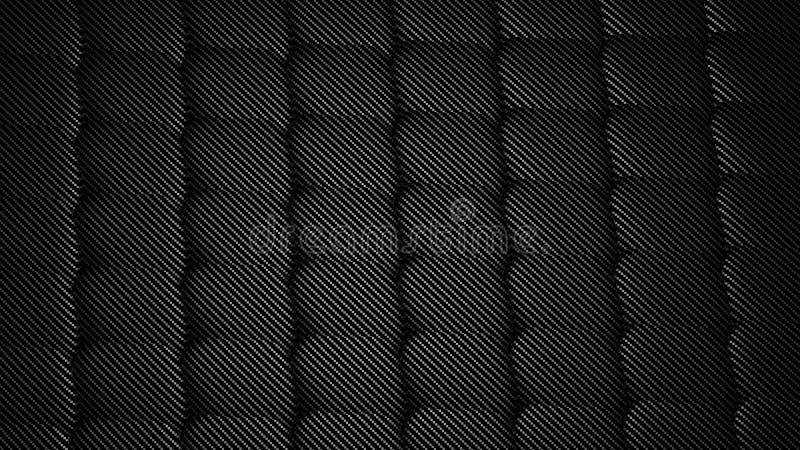 碳纤维,无缝的样式背景 向量例证