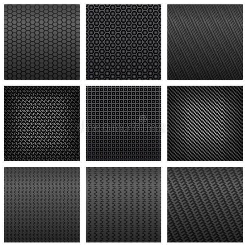 碳纤维无缝的样式背景 库存例证