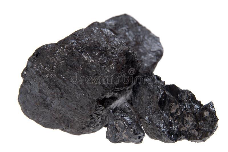 碳采煤查出的矿块 库存图片
