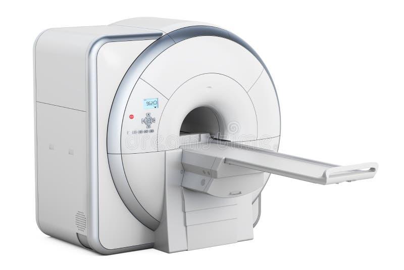 磁反应想象扫描器MRI, 3D翻译 库存例证