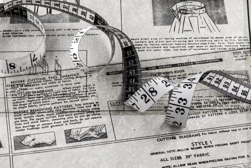 磁带和缝合的磁带 免版税库存照片