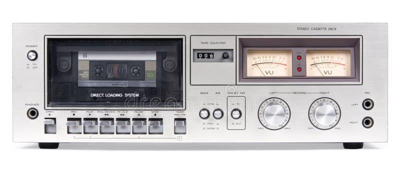 磁带录音机仓前面 图库摄影