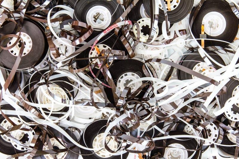 磁带音乐老片断  库存图片