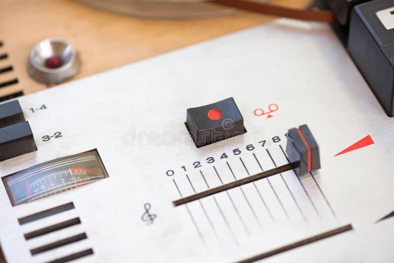 磁录音机细节 库存图片