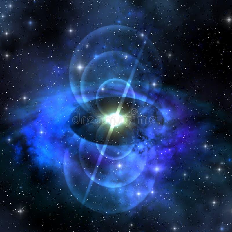 磁性脉冲星形 皇族释放例证