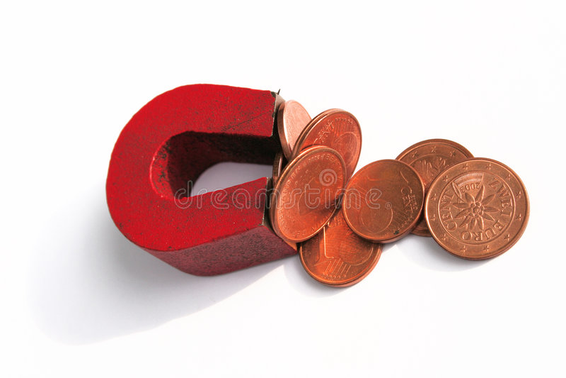 磁性货币 免版税图库摄影