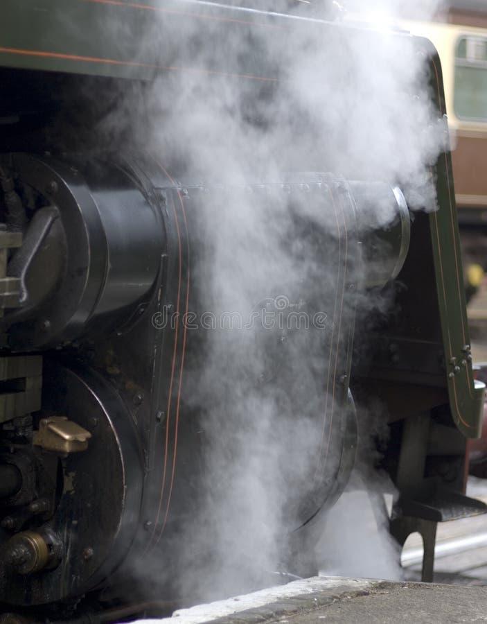磁道机车蒸汽 库存图片