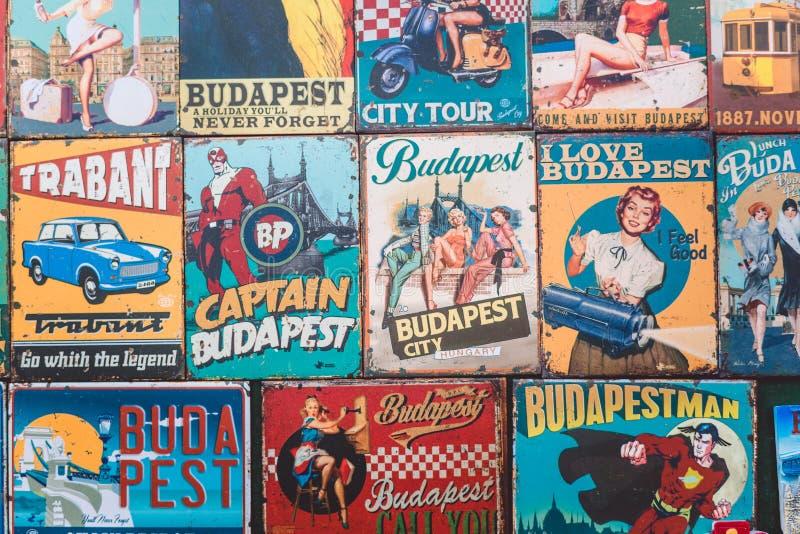 磁铁是从城市布达佩斯的纪念品 免版税图库摄影