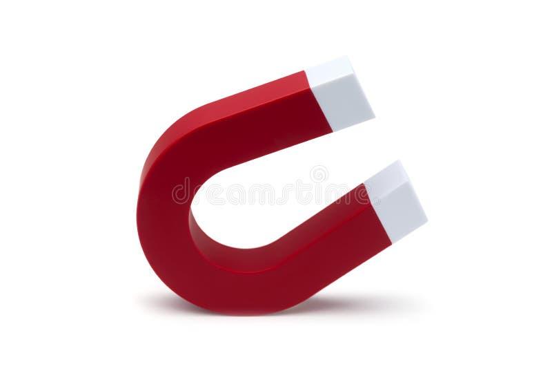 磁铁马掌 红颜色 库存照片