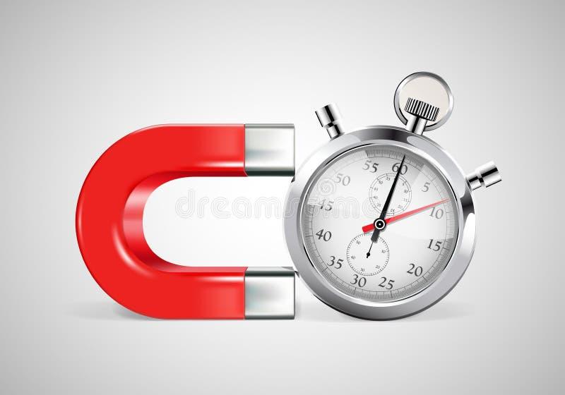 磁铁-时间安排 皇族释放例证
