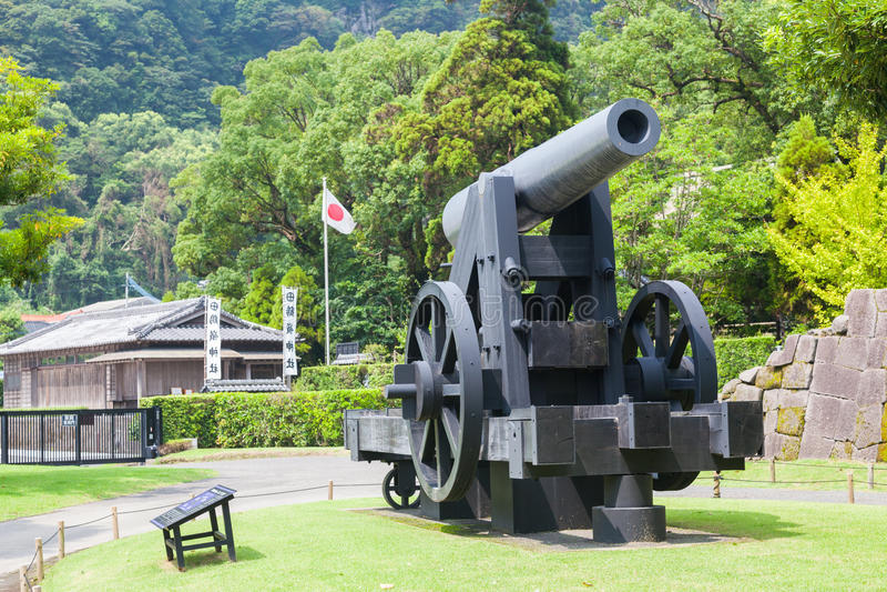 150磅铁军事大炮 免版税库存照片