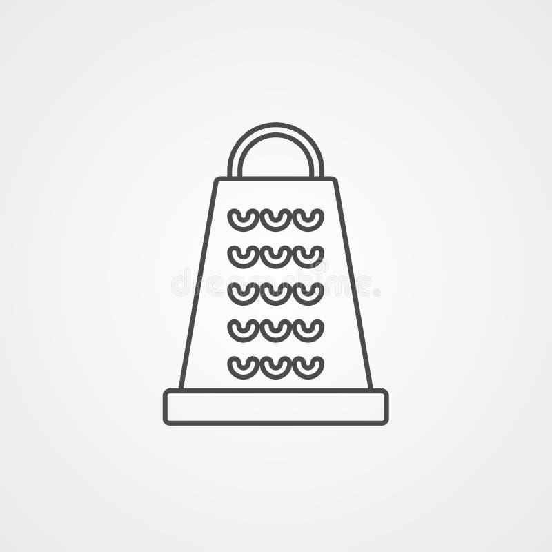 磨丝器传染媒介象标志标志 向量例证