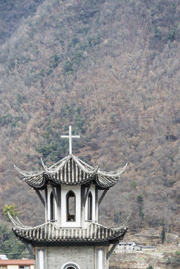磨溪天主教会 库存照片