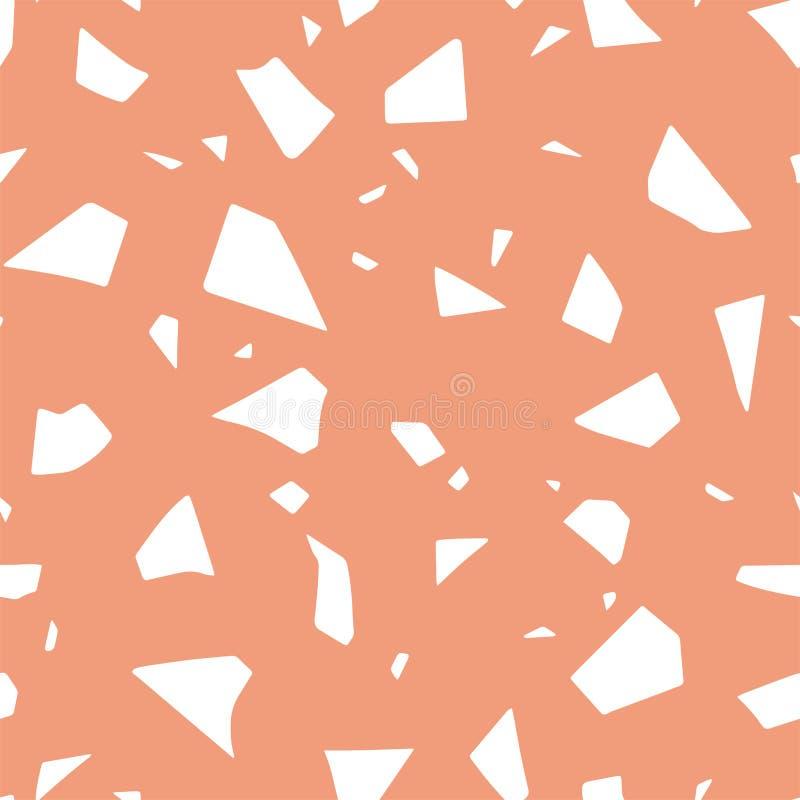 磨石子地作用,无缝的抽象样式 传染媒介纸削减了被手工造的纹理 库存例证