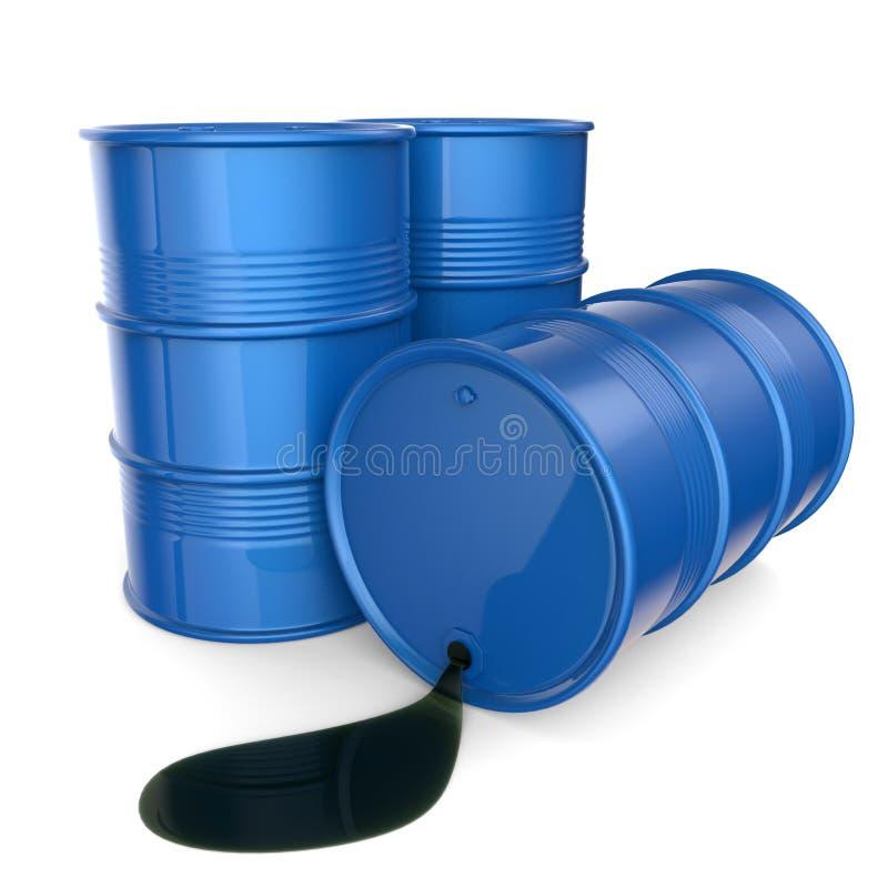 滚磨蓝色油 3d回报 库存例证