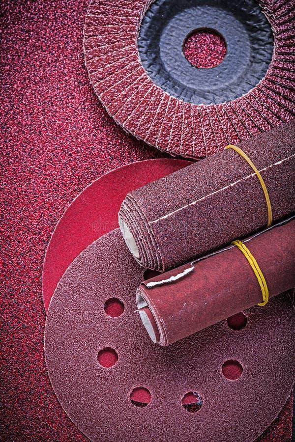 磨蚀挡水板轮子砂轮砂纸滚动 库存图片