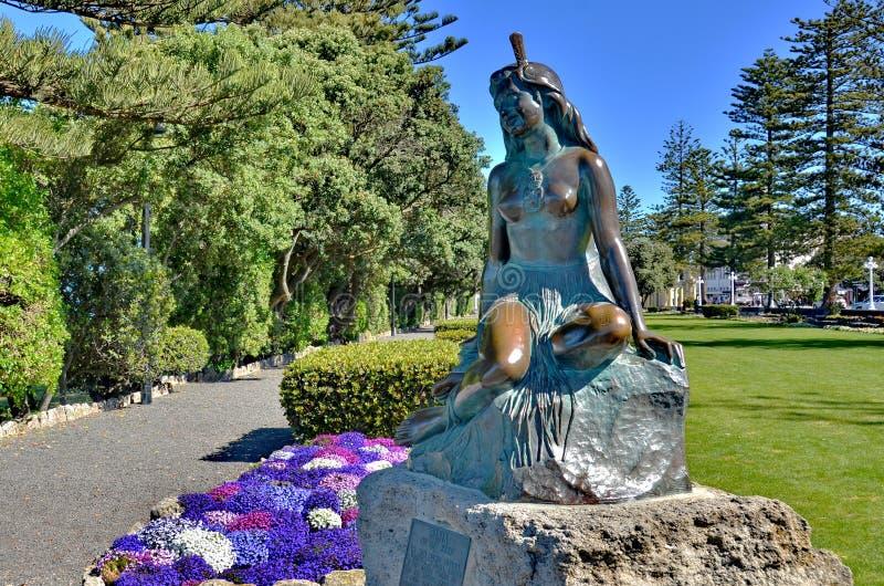 礁石雕象的Pania 免版税库存照片