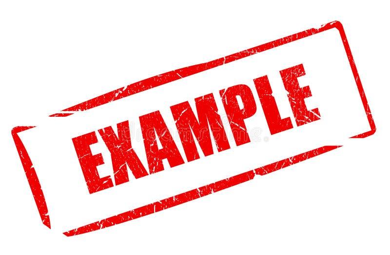 示例印花税 库存例证