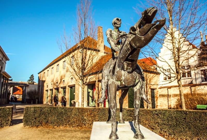 默示录雕象的四骑士在布鲁日,比利时 免版税图库摄影