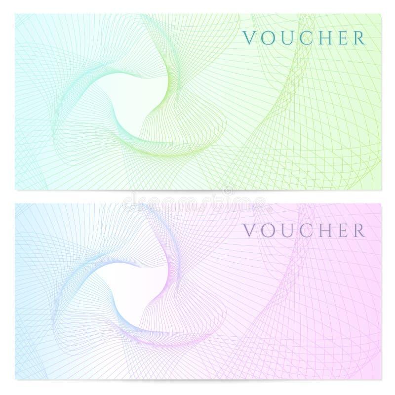 礼券,证件,优惠券模板。颜色 向量例证