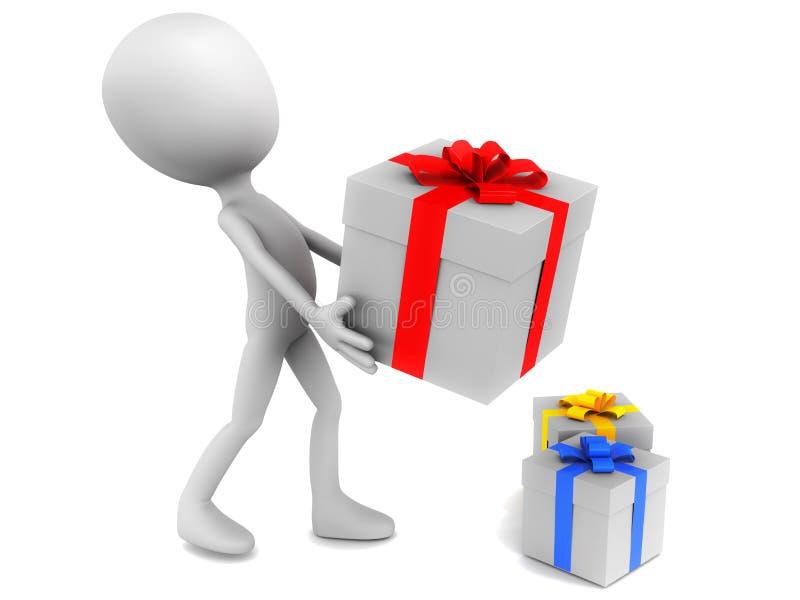 礼品和存在 皇族释放例证
