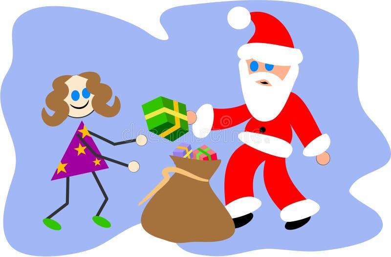 礼品圣诞老人 向量例证