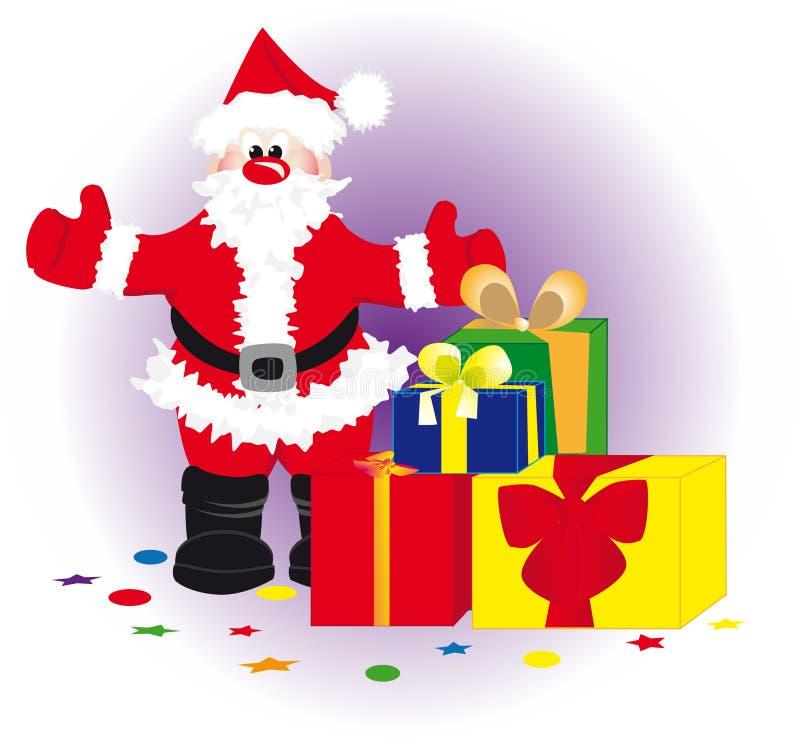 礼品圣诞老人 库存例证