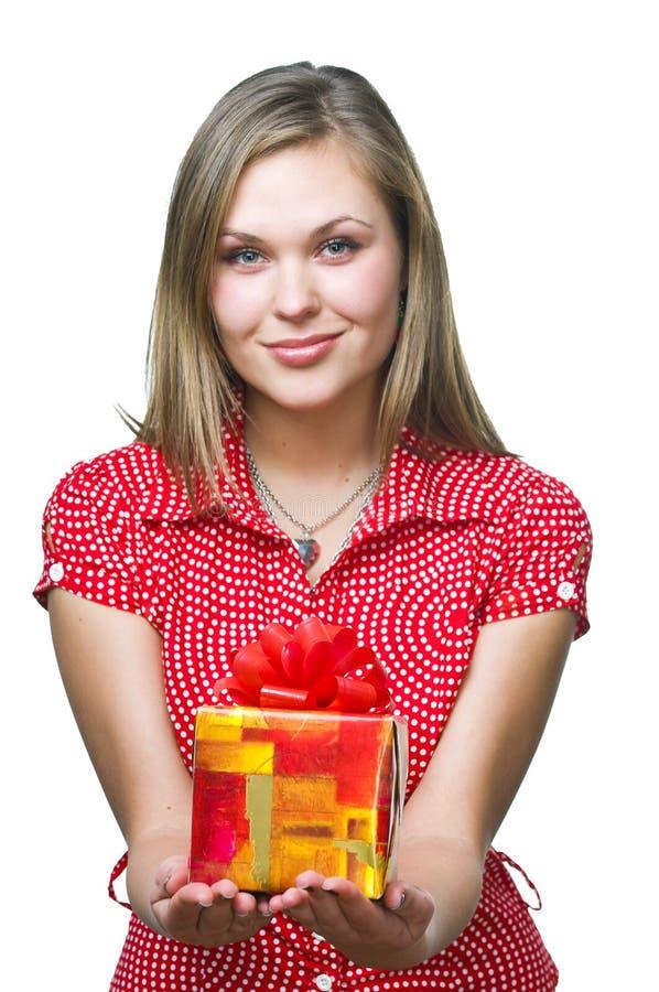 礼品妇女 免版税库存图片